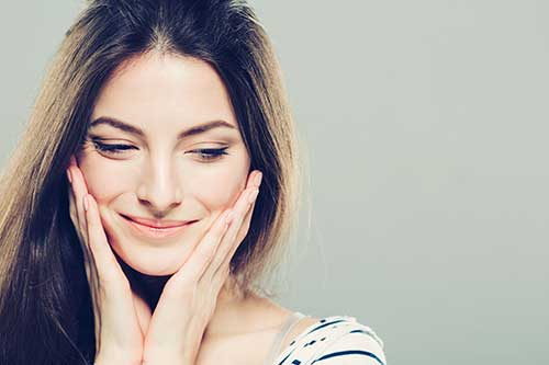 Woman with a fresh face after excel V laser treatment